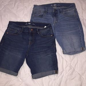 Two Old Navy Fitted shorts size six